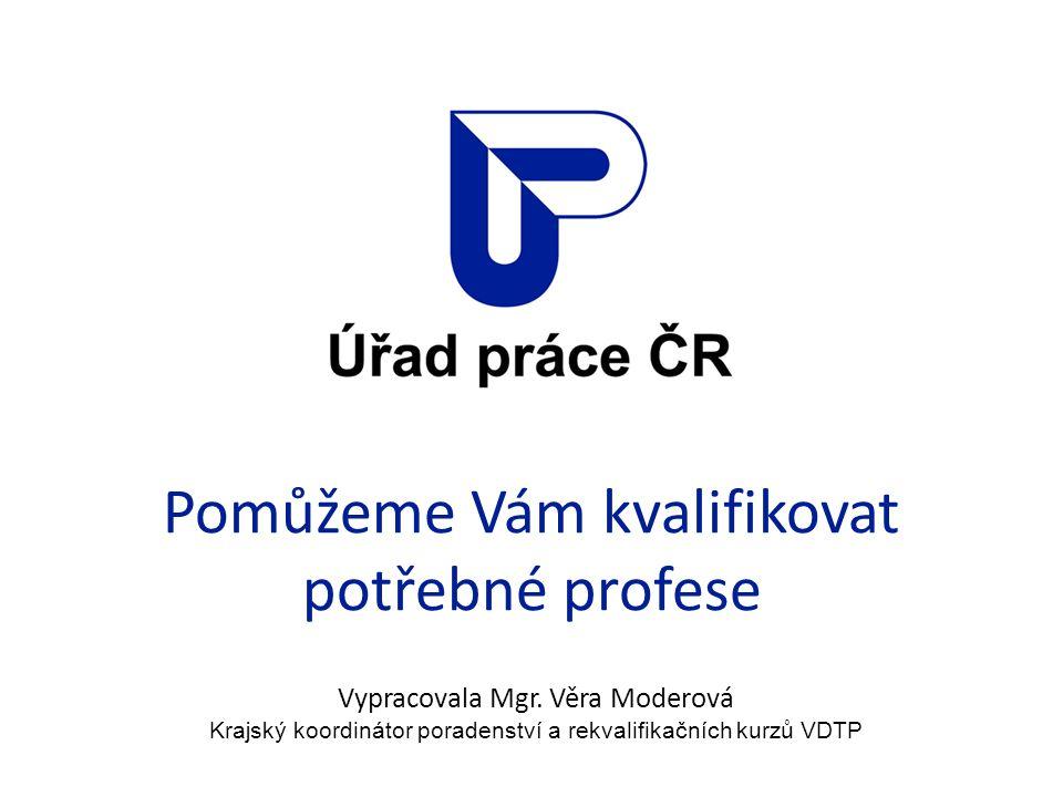 Pomůžeme Vám kvalifikovat potřebné profese Vypracovala Mgr.