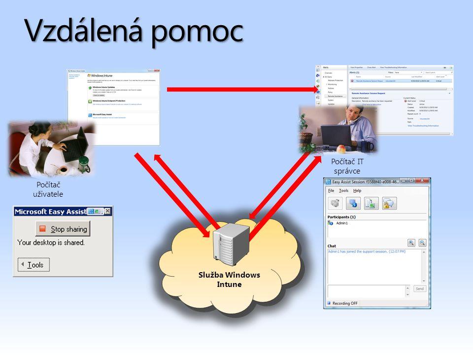 Vzdálená pomoc Služba Windows Intune Počítač uživatele Počítač IT správce