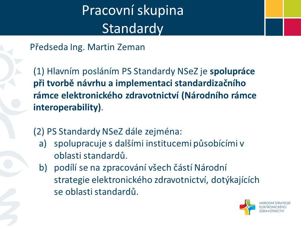 Pracovní skupina Standardy Předseda Ing.