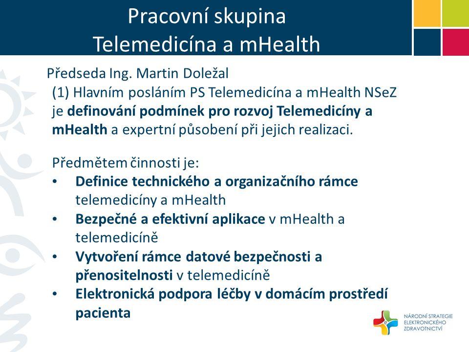 Pracovní skupina Telemedicína a mHealth Předseda Ing.