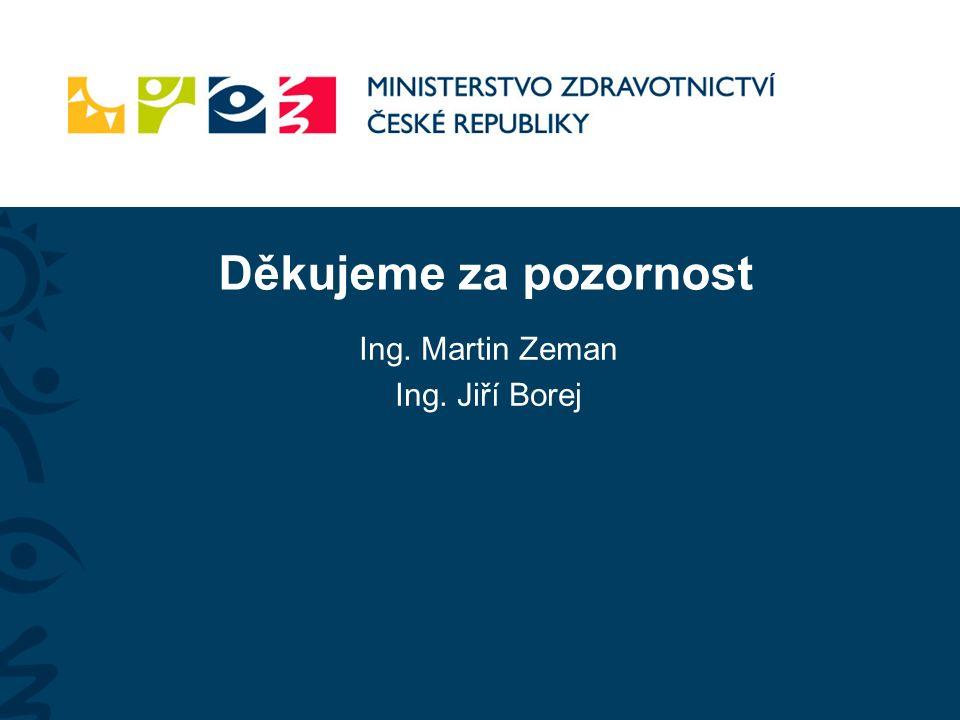 Děkujeme za pozornost Ing. Martin Zeman Ing. Jiří Borej