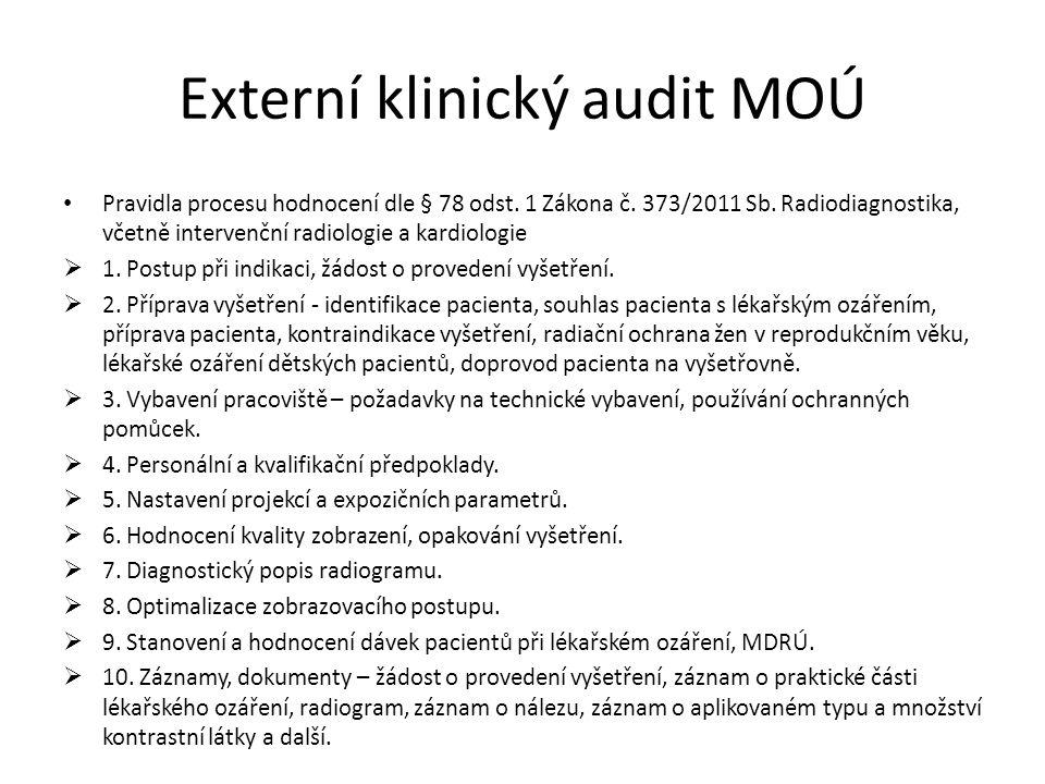 Externí klinický audit MOÚ Pravidla procesu hodnocení dle § 78 odst.
