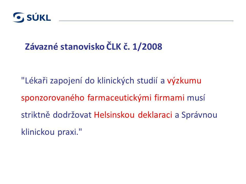 Závazné stanovisko ČLK č.