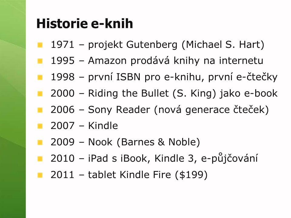 Historie e-knih 1971 – projekt Gutenberg (Michael S.
