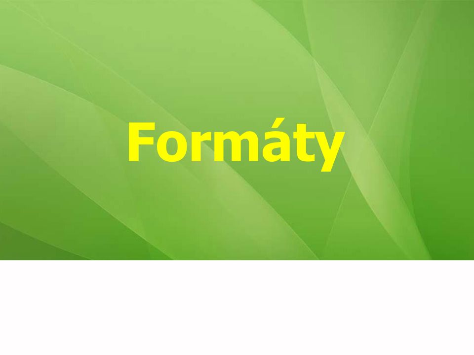 Formáty