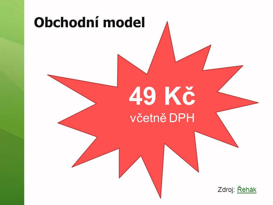 Obchodní model 49 Kč včetně DPH Zdroj: ŘehákŘehák