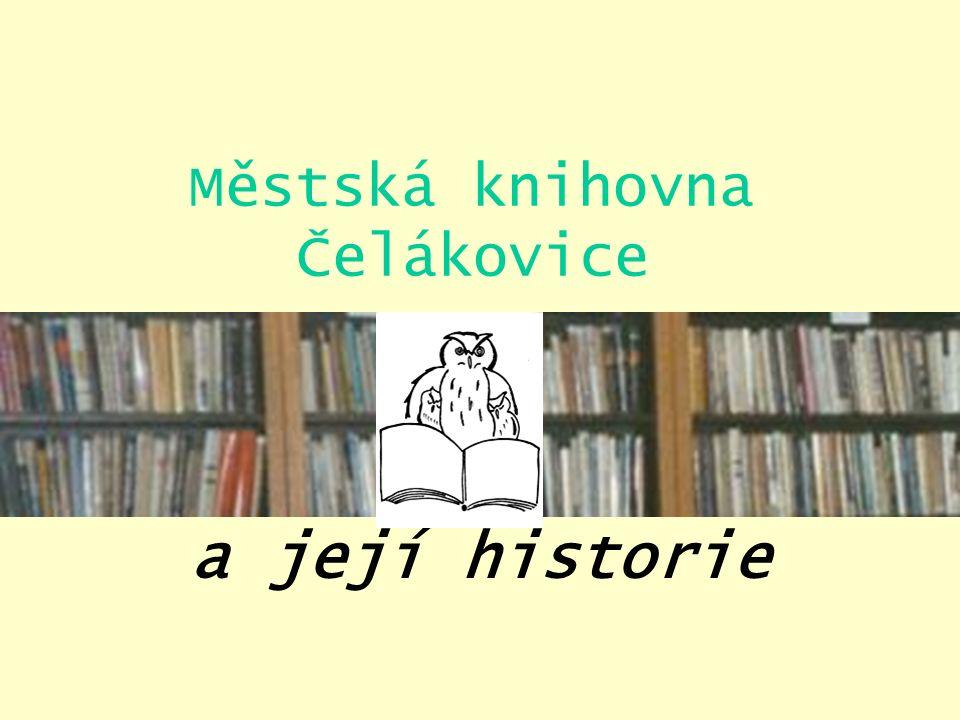 Městská knihovna Čelákovice a její historie