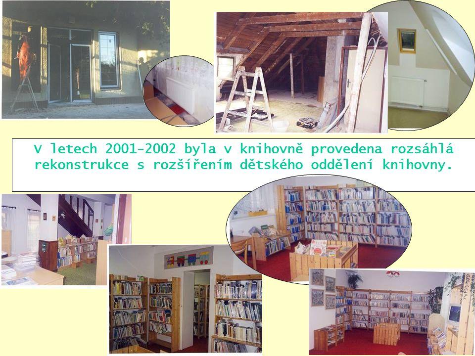 V letech 2001-2002 byla v knihovně provedena rozsáhlá rekonstrukce s rozšířením dětského oddělení knihovny.