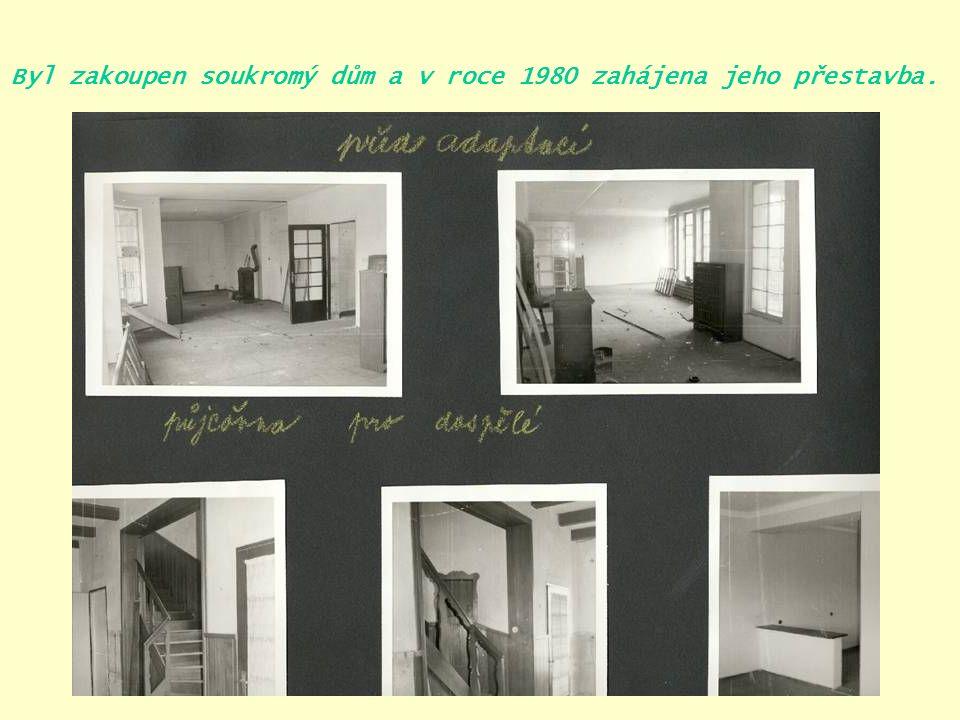 Městská knihovna Čelákovice Na Hrádku 1092 25.únor 1983 – nová knihovna připravena k otevření.