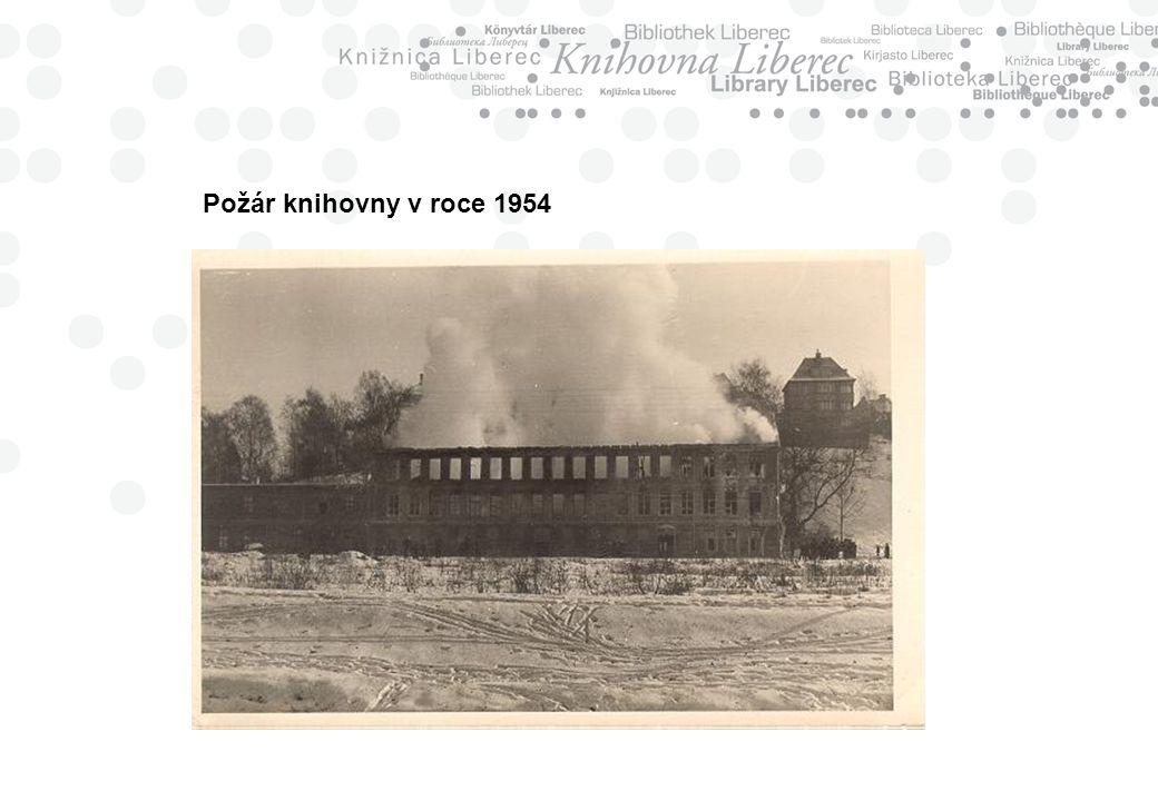 Požár knihovny v roce 1954