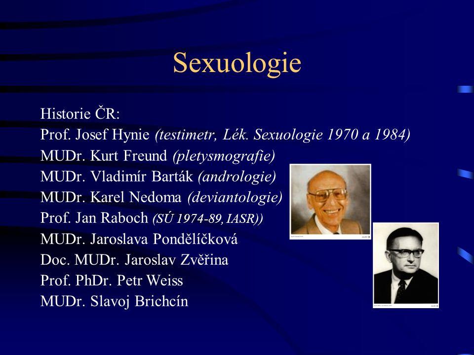 Sexuologie Historie ČR: Prof.Josef Hynie (testimetr, Lék.