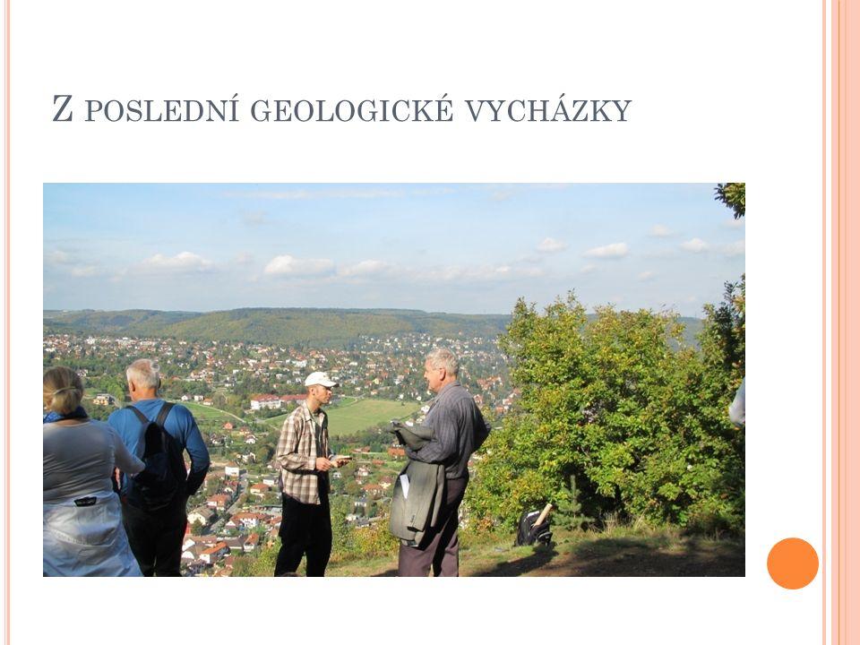 J ARNÍ GEOLOGICKÁ VYCHÁZKA Oblíbený průvodce Filip Stehlík připravuje program jarní geologické vycházky.