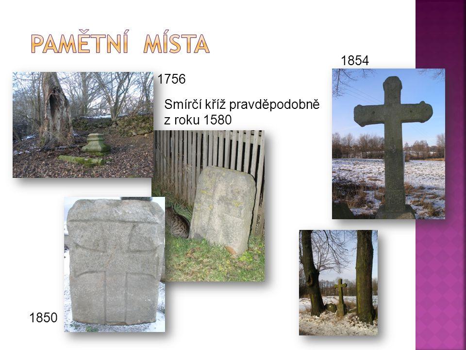 Smírčí kříž pravděpodobně z roku 1580 1850 1756 1854