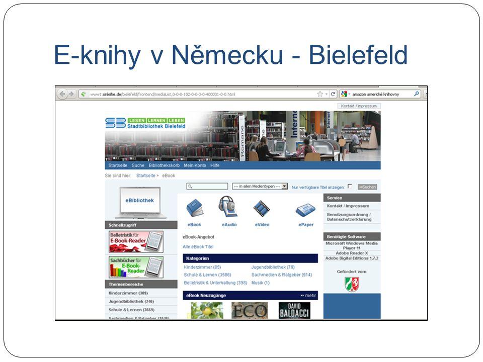 E-knihy v Německu - Bielefeld