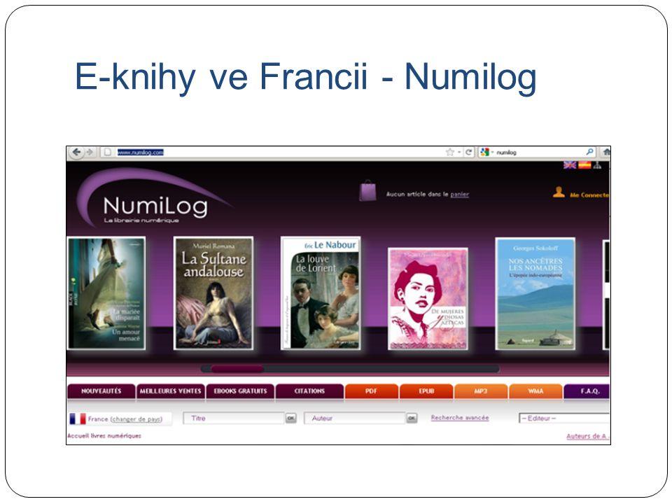 E-knihy ve Francii - Numilog