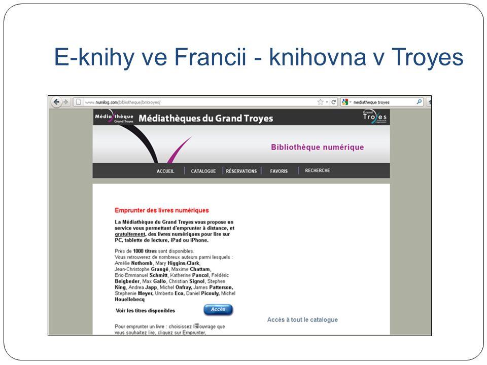 E-knihy ve Francii - knihovna v Troyes