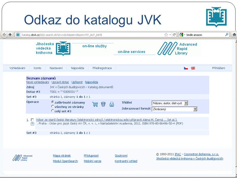Odkaz do katalogu JVK
