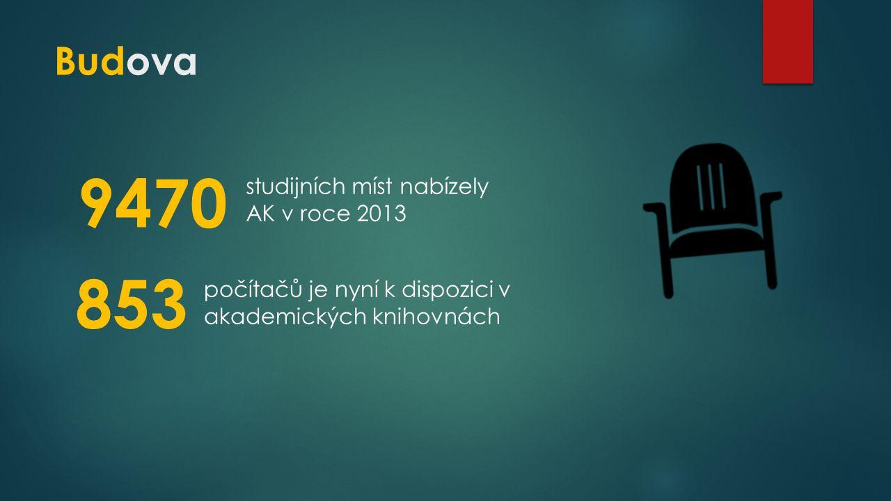 Budova 9470 studijních míst nabízely AK v roce 2013 853 počítačů je nyní k dispozici v akademických knihovnách