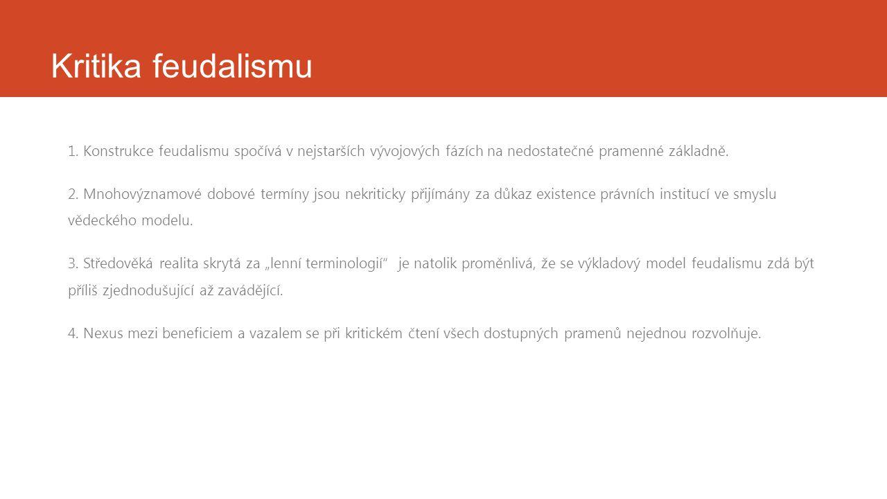 Kritika feudalismu 1.