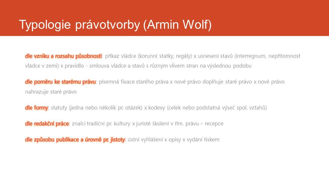 Typologie právotvorby (Armin Wolf)