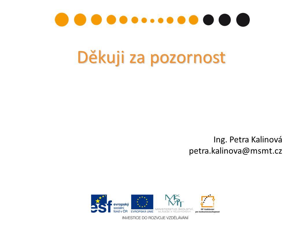 Ing. Petra Kalinová petra.kalinova@msmt.cz Děkuji za pozornost