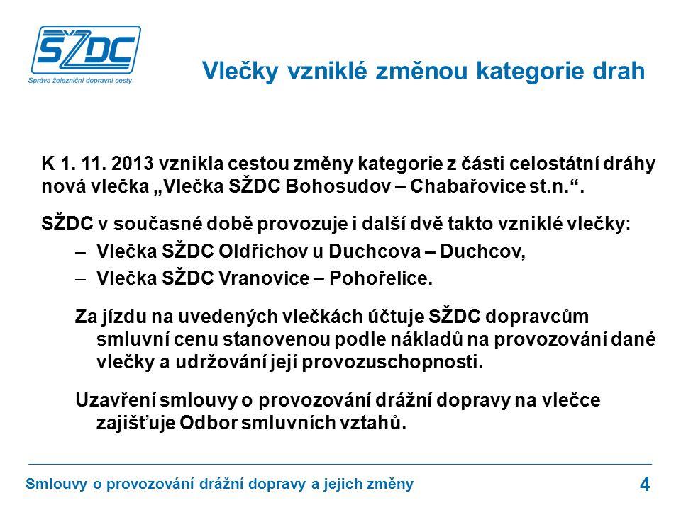 Aktualizace smluv o provozování drážní dopravy na celostátní dráze a regionálních dráhách ve vlastnictví ČR proběhne ve druhé polovině roku.