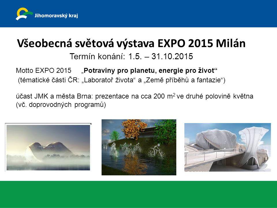 Všeobecná světová výstava EXPO 2015 Milán Termín konání: 1.5.