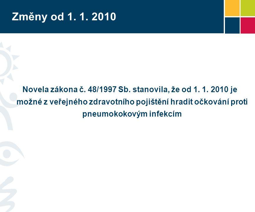 Změny od 1. 1. 2010 Novela zákona č. 48/1997 Sb.