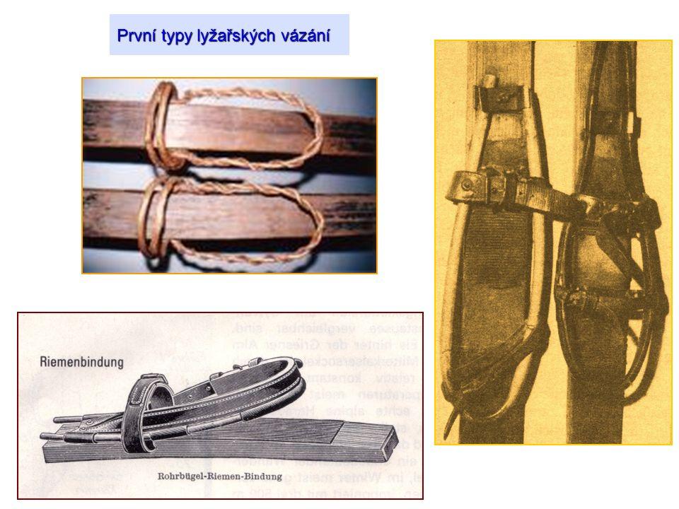 První typy lyžařských vázání