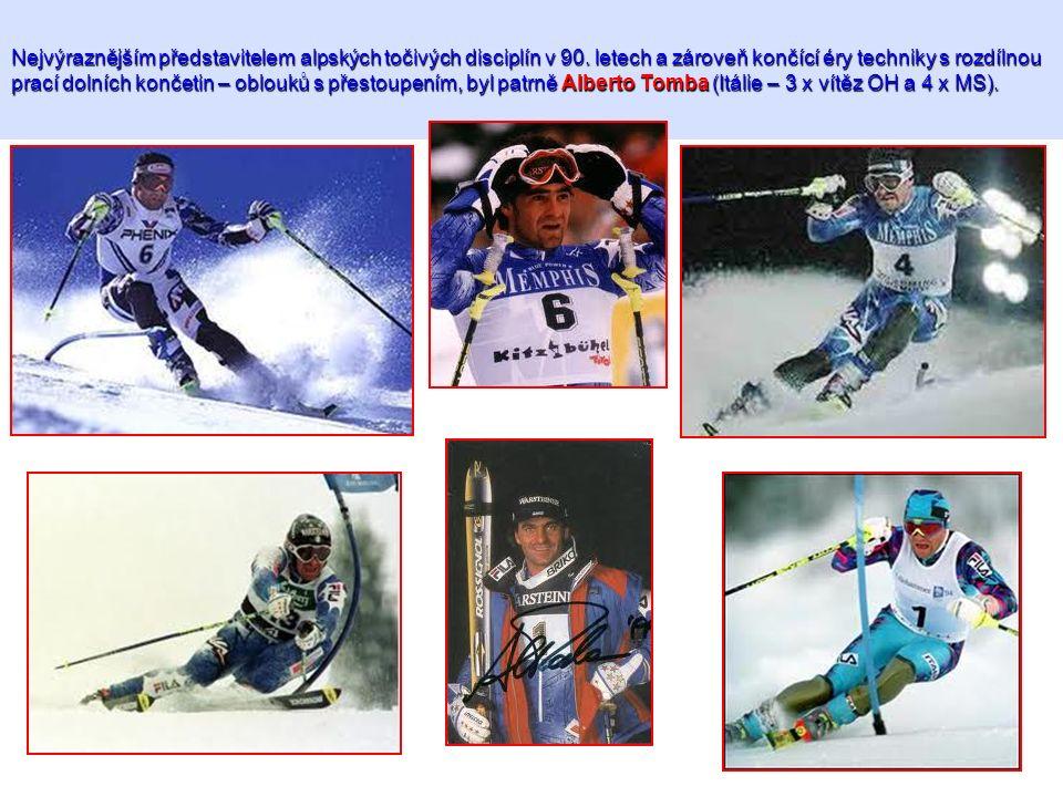 Nejvýraznějším představitelem alpských točivých disciplín v 90. letech a zároveň končící éry techniky s rozdílnou prací dolních končetin – oblouků s p