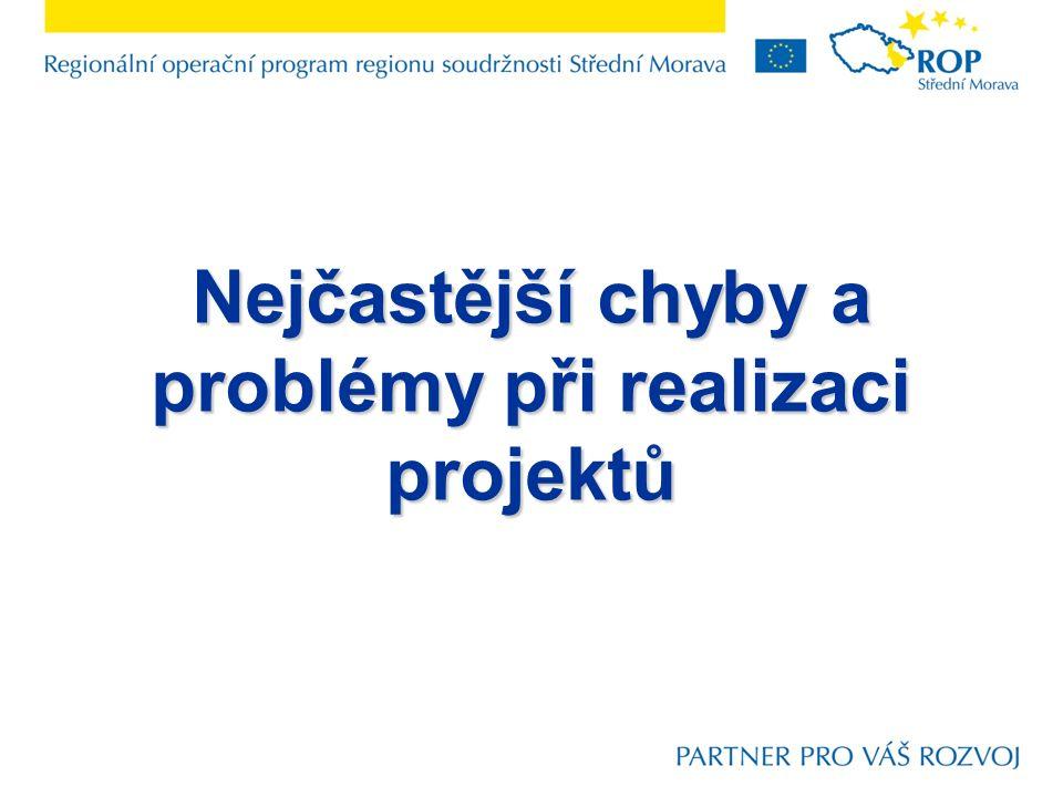 Nejčastější chyby a problémy při realizaci projektů