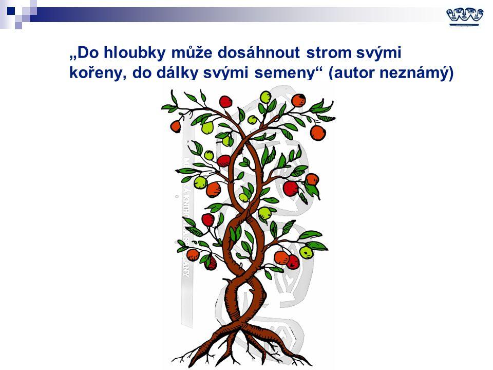 """""""Do hloubky může dosáhnout strom svými kořeny, do dálky svými semeny (autor neznámý)"""