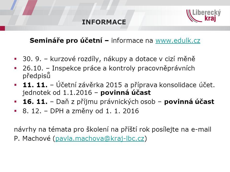 Semináře pro účetní – informace na www.edulk.czwww.edulk.cz  30.