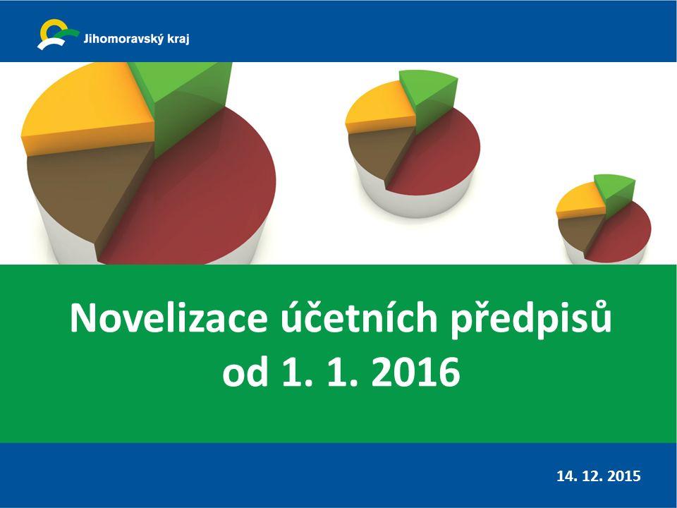 Novelizace účetních předpisů od 1. 1. 2016 14. 12. 2015