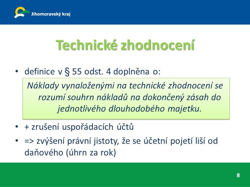 Technické zhodnocení definice v § 55 odst.