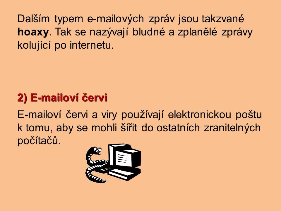Dalším typem e-mailových zpráv jsou takzvané hoaxy.