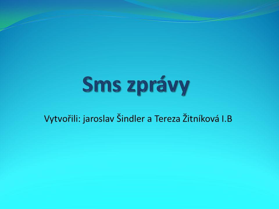 Vytvořili: jaroslav Šindler a Tereza Žitníková I.B