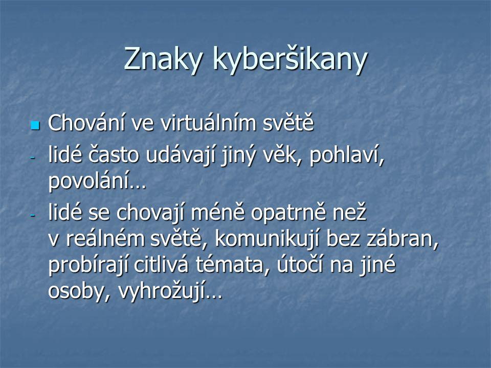 Znaky kyberšikany A proč.