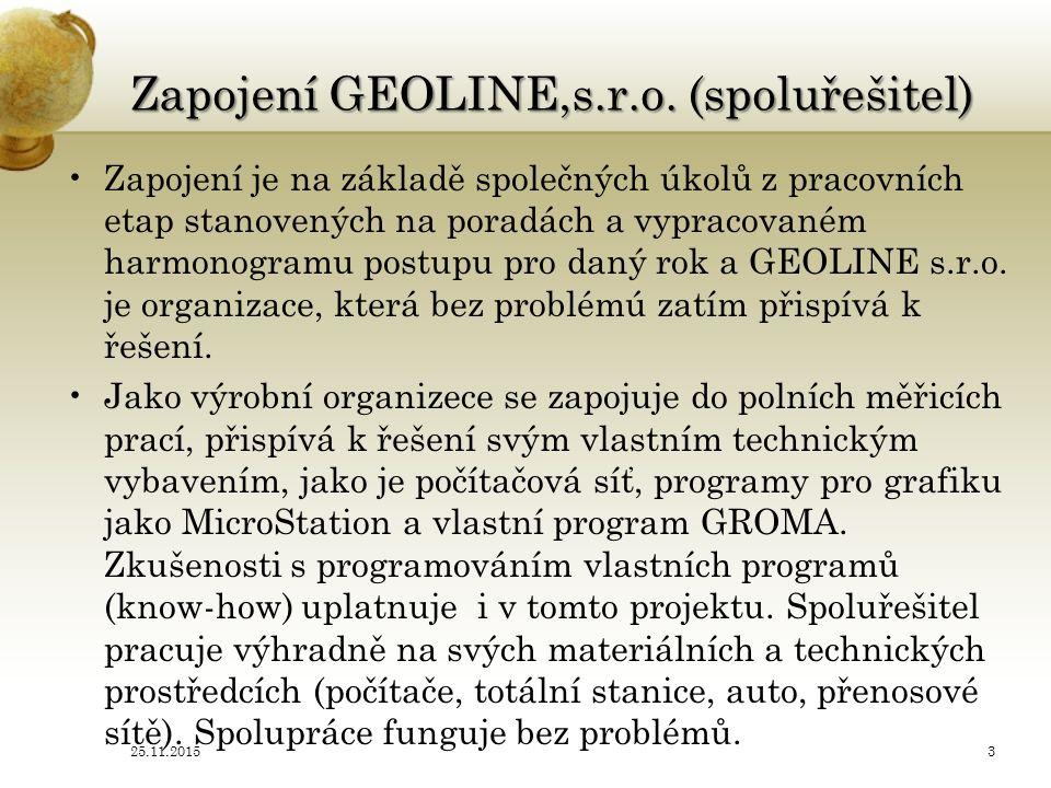 Zapojení GEOLINE,s.r.o.