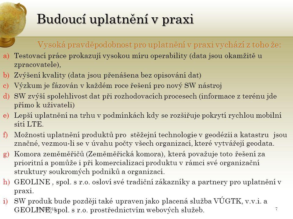 Vývoj nových technologií pro účely zeměměřictví a katastru Milan.Kocab@vugtk.cz