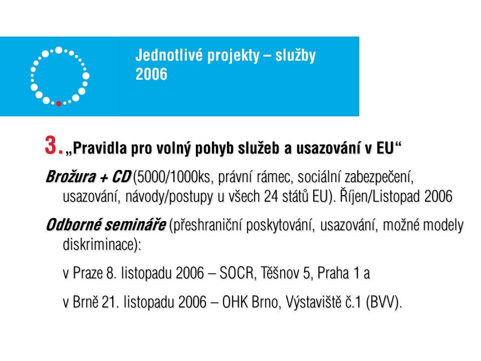 Jednotlivé projekty – služby 2006 3.