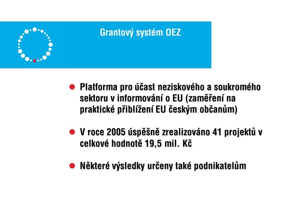 Jednotlivé projekty – služby 2006 Euroskop.cz