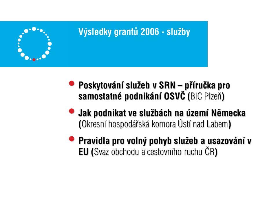 Jednotlivé projekty – služby 2006 1.