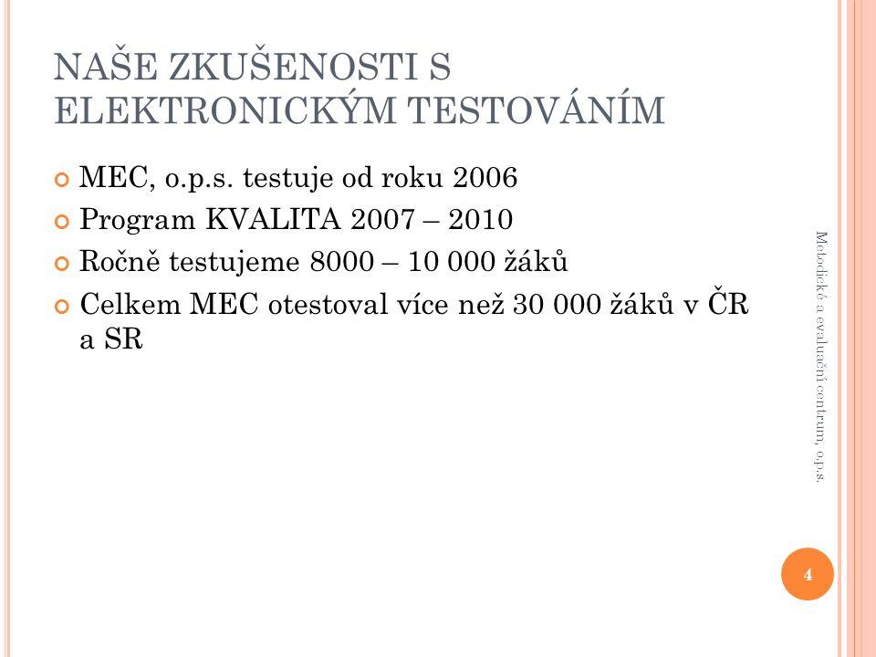 Č ESKO X S LOVENSKO Přírodovědný základ (Bi, Che, Fy) 15 Metodické a evaluační centrum, o.p.s.