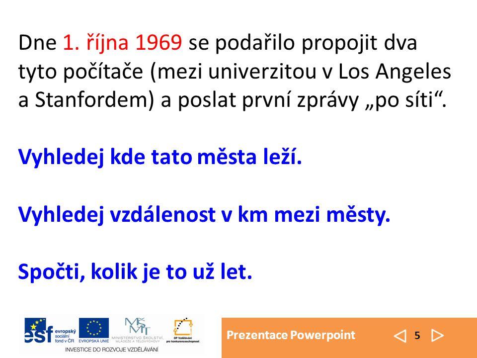 Prezentace Powerpoint 5 Dne 1.