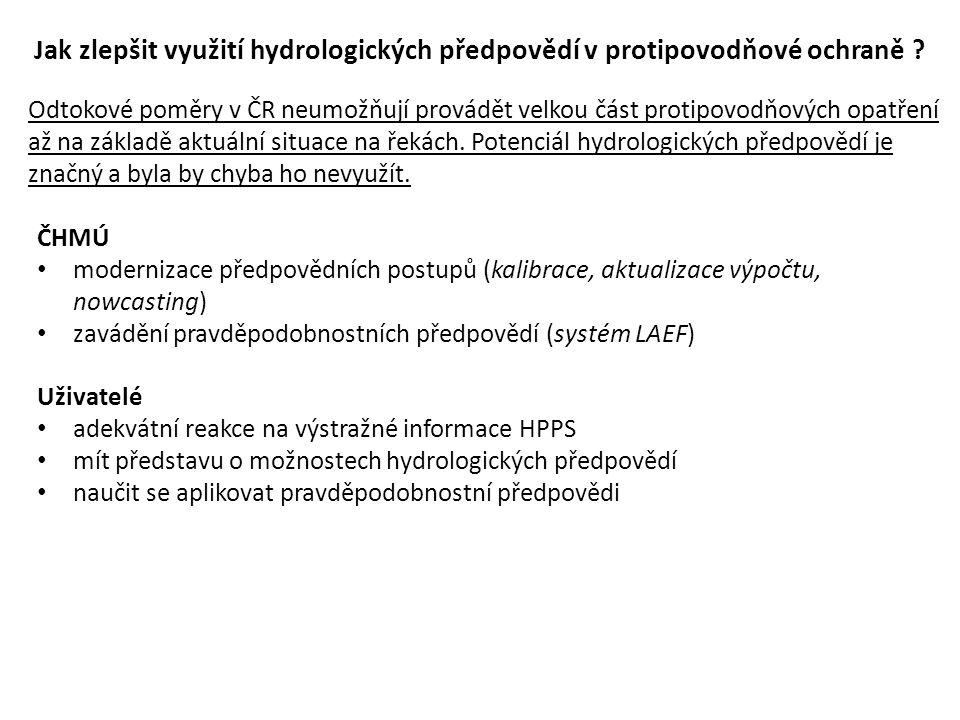 Jak zlepšit využití hydrologických předpovědí v protipovodňové ochraně .