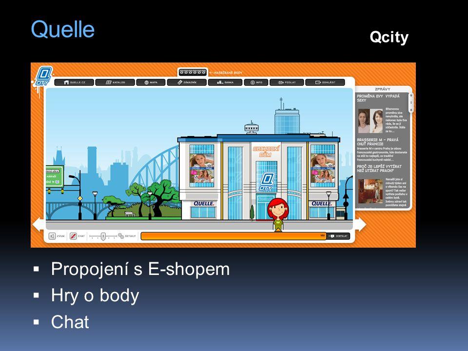 Quelle  Propojení s E-shopem  Hry o body  Chat Qcity