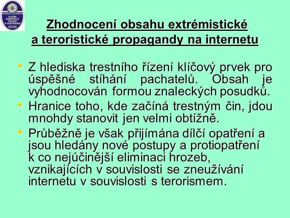 právní řád České republiky: neexistuje specifická skutková podstata obsahující postih za případný kyberterorismus. Při snaze o postihnutí takového jed