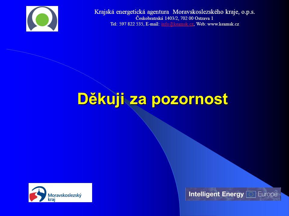 Děkuji za pozornost Děkuji za pozornost Krajská energetická agentura Moravskoslezského kraje, o.p.s. Českobratrská 1403/2, 702 00 Ostrava 1 Tel: 597 8