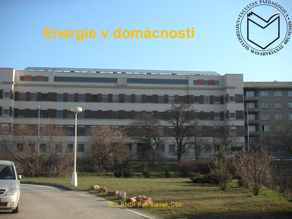 doc. RNDr. Petr Sládek, CSc. Energie v domácnosti